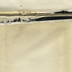 Small Landscape Collage - Mirage #15 by Janet Jones