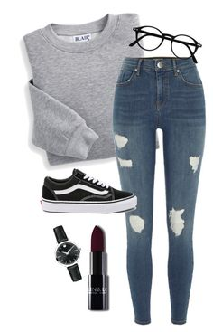 """#225"" by mintgreenb on Polyvore featuring Blair, River Island, Vans and Movado"