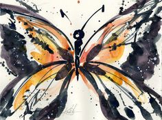 Butterfly Magic No. 10 ... Original abstract by KathyMortonStanion