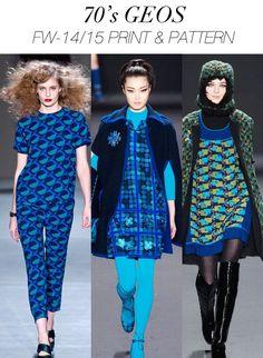 Women's Fashion Trends in Blue | TRENDS // TREND COUNCIL . WOMEN'S A/W 2014-15 PRINT + PATTERN