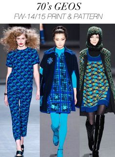 Women's Fashion Trends in Blue | TRENDS // TREND COUNCIL . WOMEN'S A/W 2014-15 PRINT + PATTERN