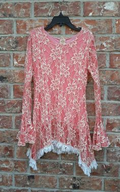 Good condition, Smoke free home<br/><br/>Boho - Bohemian - Hippie Style. Lacy. DMB COUTURE. Bell Sleeve. Color Peaches and Cream. | eBay!