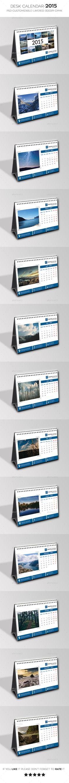 Desk Calendar 2015 by quazisadiya FeaturesFull calendar 2015 with bleed)Editablecolors Stationery Printing, Stationery Templates, Stationery Design, Print Templates, Branding Design, Calendar Templates, Calendar 2019 Design, Print Calendar, Desk Calender