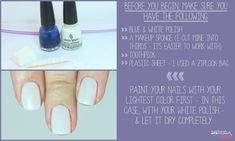 Manicure Monday: Blue ombre nail tutorial at LuLus.com!