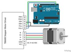 In this tutorial you will learn how to control a stepper motor with AccelStepper and Arduino. Wiring diagram and many example codes included! Arduino Stepper Motor Control, Arduino Cnc, Circuit Diagram, Cnc Machine, Home Automation, Coding, Projects, Log Projects, Desktop Cnc