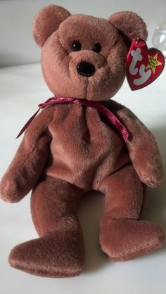 Teddy the Bear Rare Collectible Vintage Original 1993 Ty Beanie Baby Guys  Girls Boys Birthday Brown Bear Home Decor Christmas Hanukkah Gift 7a19792268c1