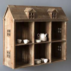 Wooden Doll House Display Shelf