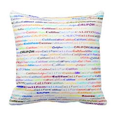 Califon Text Design II Throw Pillow