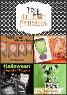 It's time to get decorating for Halloween and with the help of this fun list, you can get ready to decorate, plan those treats, and much more! Halloween Countdown Blocks via Say Not Sweet Anne Happy Halloween Printable Banner via Thrifty Jinxy All Hallows Eve Collection Printables via Fleece Fun Halloween Treat Bag Topper via …
