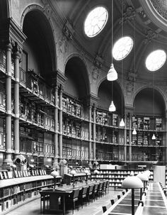 BibliotheÌque Nationale (National Library)Paris, France. Henri Labrouste, 1862-1868