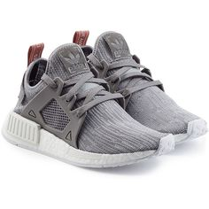 Adidas Originals NMD_XR1 Sneakers ($140) ❤ liked on Polyvore featuring shoes, sneakers, grey, gray sneakers, adidas originals trainers, lacing sneakers, adidas originals sneakers and laced shoes