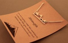 Mountain Strength Necklace: Mountain Range by CraftsbyBrittany