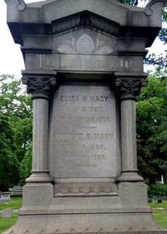 Eliza Myrick Macy, mother of Rowland H Macy, founder of Macy's department stores.  Buried at Woodlawn Cemetery, in the Macy family plot, Bronx, NY