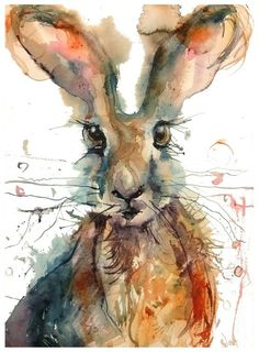 ARTFINDER: Brown Hare by Sarah Weyman - A Original watercolour on St Cuthberts Bockingford.: