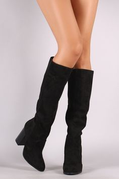 0bfb400fbfa0 Denim Caged Chunky Heeled Over-The-Knee Boots