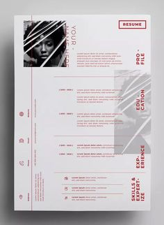 Resume Design Templates AI, EPS - Design in 300 DPI resolution - paper size. Graphic Resume, Graphic Design Resume, Graphisches Design, Resume Design Template, Cv Template, Resume Templates, Layout Design, Design Templates, Creative Resume Design