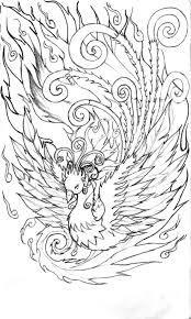Phoenix Tattoo Coloring Pages CIO Craft Ideas Pinterest