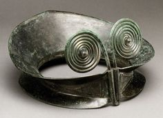 Copper alloy diadem with spirals  Hallstatt early Celtic culture,  1200–800 B.C..  Made in the Carpathian Basin region (present-day Hungary).   Source: The Metropolitan Museum of Art