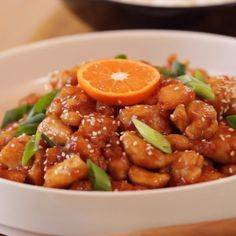 Learn How to Make Orange Chicken. A quick and easy weeknight meal, better than take out! So easy and SO good!   #howtomakeorangechicken #orangechickenrecipe #betterthantakeoutorangechicken #entertainingwithbeth Tasty Video, Asian Cooking, How To Cook Chicken, Pineapple Pie, Food Videos, Real Food Recipes, Yummy Food, Cooking Recipes, Good Food