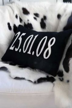 Bespoke Personalised Date Cushion from Rockett St George...