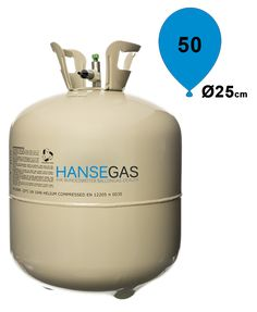 Ballongas Helium Einwegflasche extragroß 0,42m³