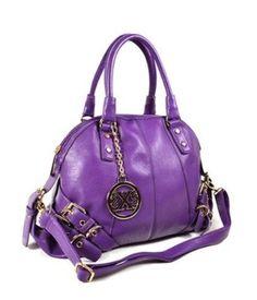 #Belted Sat0chel #Handbag #(Purple),