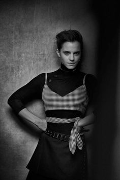 emma watson,Interview Magazine first look! Portraits by Peter Lindbergh and interview by Jessica Chastain. Peter Lindbergh, Style Emma Watson, Emma Watson Estilo, Fangirl, Emma Love, Poses, Jessica Chastain, British Actresses, Beauty And The Beast