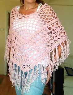 Ravelry: Boho Fringed Poncho pattern by Aegean Drawn