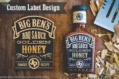 Custom BBQ Sauce Barbecue spice rub Label Packaging by KudzuMonster Spices Packaging, Cake Packaging, Types Of Packaging, Big Ben, Bbq, Spice Labels, Food Branding, Spice Rub, Shops