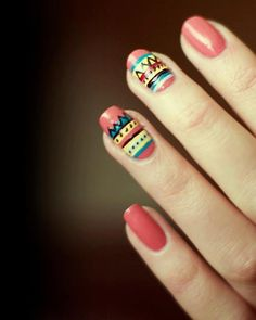 45 Tribal Aztec Nail Designs
