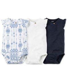 Newborn Baby Bodysuit Boy Girl Tank Top 4 Pack Lot Plain Blank 3 6 9 Months