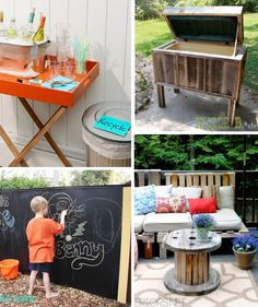 28 Tips for Stress-Free Outdoor Party - One Crazy House Barn Parties, Outdoor Parties, Outdoor Entertaining, Festival Garden Party, Park Birthday, 2nd Birthday, Backyard Camping, Backyard Ideas, Painting Wooden Furniture