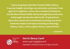 Authors <3 libraries