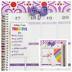 Gratitude Insert for Planner with Coil Clip - great for Erin Condren Life Planner, Filofax, etc.