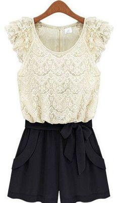 Lace Belted Jumpsuit ♥