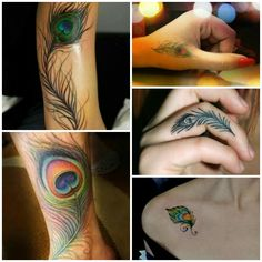 Toe Tattoos, Baby Tattoos, Girly Tattoos, Trendy Tattoos, Body Art Tattoos, Tatoos, Peacock Feather Tattoo, Feather Tattoo Design, Feather Tattoos