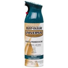 9d499db79b All Surface Gloss Deep Turquoise Spray Paint and Primer in One-284960 - The  Home Depot