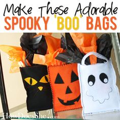 DIY halloween bags  #howdoesshe #diyhalloweenbags #halloweenbags howdoesshe.com