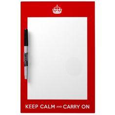 gardez le calme et continuez le conseil d'effaceme tableau blanc effaçable à sec