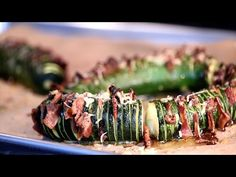 Bacon and Parmesan Hasselback Zucchini with Garlic Mustard Butter – White on Rice Couple