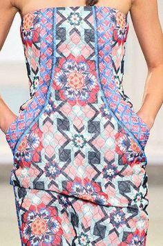 PRINTS, PATTERNS, TRIMMINGS AND SURFACE EFFECTS FROM LONDON FASHION WEEK (A/W 14/15 WOMENSWEAR) / 9 From London womenswear catwalks, beautiful details and inspirations. Temperley London