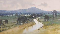 Joseph Zbukvic (b. 1952, Australia) watercolor.