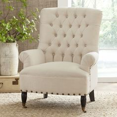 Birch Lane™ Heritage Archbald Armchair - Home Accents living room Upholstered Chairs, Wingback Chair, Armchair, Chair Cushions, Living Room Chairs, Living Room Furniture, Dining Chairs, Dining Room, Side Chairs
