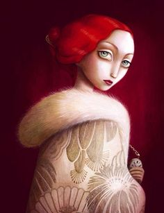 Benjamin Lacombe Benjamin was born in Paris in In he enters the Superior National School of the Decorative arts of Paris . Art And Illustration, Pomes, Pop Surrealism, Art Graphique, Woman Painting, All Art, Illustrators, Fantasy Art, Contemporary Art
