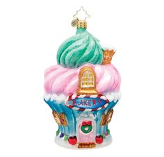 Christopher Radko Baked to Perfection Bakery Glass Christmas Ornament