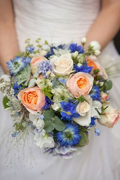 Spring Summer Wedding Bouquets For Your Perfect Wedding Bridal Bouquet Blue, Summer Wedding Bouquets, Summer Wedding Colors, Blue Bridal, Bride Bouquets, Flower Bouquet Wedding, Summer Weddings, Boquet, Purple Wedding