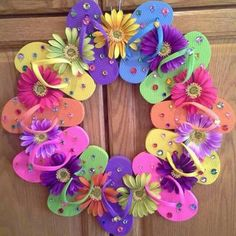 Flip flop summer wreath                                                                                                                                                      More