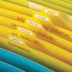 Manage your kids school work/activities with the expanding file.