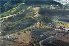 Montevecchia pyramids 40 km northeast of Milan and about 15 km south of Lecco in Lombardy/Italy