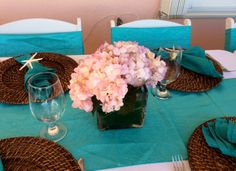 Conch House, Tropical Weddings, Hydrangeas, Catering, Table Decorations, Ideas, Home Decor, Key Largo, Homemade Home Decor